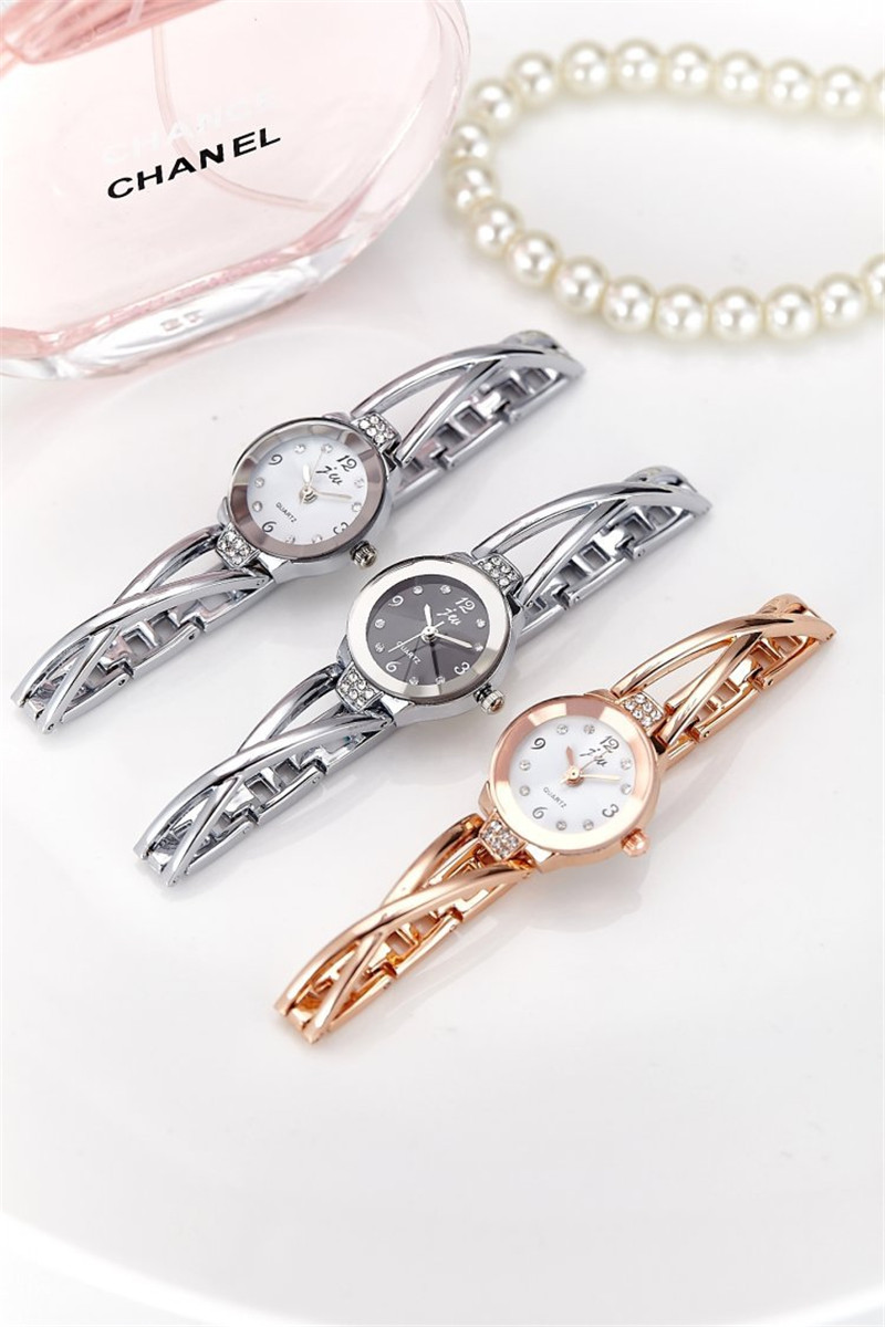 New Fashion Rhinestone Watches Women Luxury Brand Stainless Steel Bracelet watches Ladies Quartz Dress Watches reloj mujer Clock 15