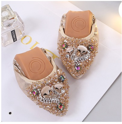 Plus Size31-45 Designer Crystal Boys Girls Flat Shoes Elegant Comfortable Lady Fashion Rhinestone Children School Soft Shoes