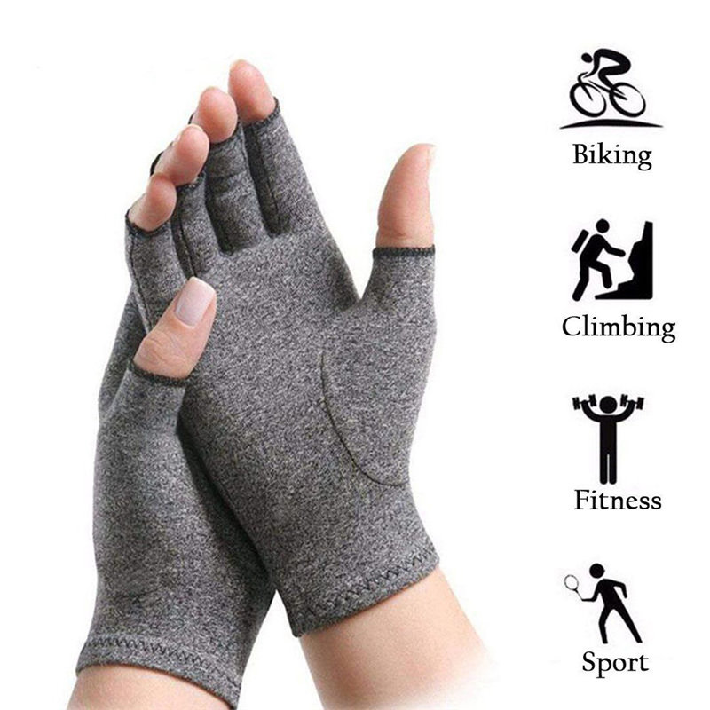Arthritis Gloves Compression Sports RUNNING Protection Pain Relief Hand Wrist Support Br