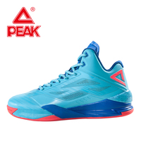 PEAK Lightning IV Men Basketball Shoes Ankle Boots Breathable Athletic Gradiant Dual Tech Basketball Sneakers High