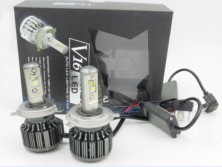 2 gab. Viens pāris H4 Hi / Lo H7 H11 9005 9006 Led automašīnu - Auto lukturi