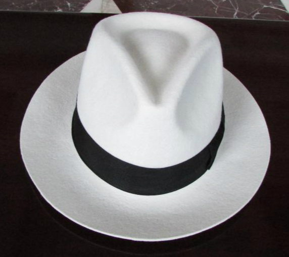 White Panama Hat Wool felt fedora hats for girls gentleman gangster hat black  band bow chapeau 6.5cm brim large size XL 61cm-in Fedoras from Apparel ... 4acdd18329f