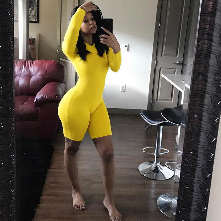 Plus size Playsuit Women Jumpsuit 2019 Sexy Ladies O Neck Long Sleeve Bodycon Jumpsuit Female Casual Streetwear Playsuit Overall