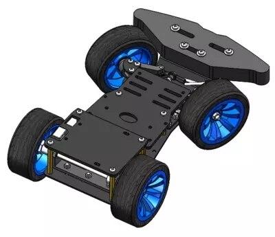4WD RC inteligentny podwozia samochodu z metalu przekładnia kierownicza serwo zestaw łożysk kontrolowane przez Arduino 4 koła Robot Model zabawki zdalnie sterowane DIY w Części i akcesoria od Zabawki i hobby na  Grupa 1