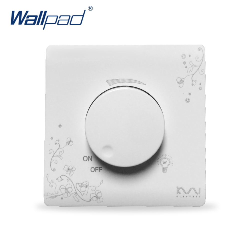 2018 Hot Sale Dimmer Wallpad Luxury Wall Switch Panel 86*86mm 15-200W стоимость