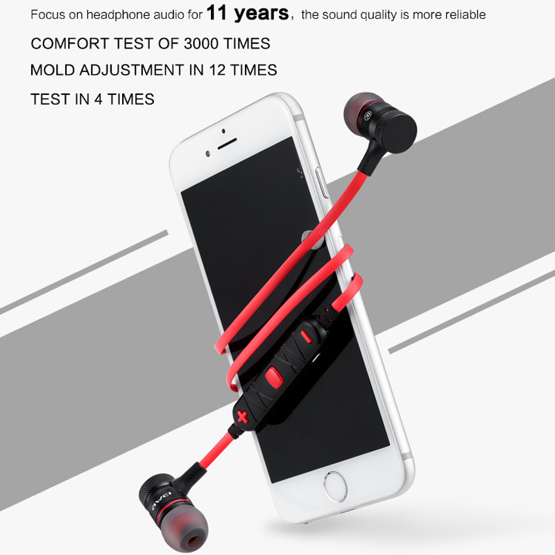 AWEI A920BL Update Version Bluetooth V4.1 Earphone Wireless Headphone With Microphone Neckband Headset Auriculares kulakl k 3