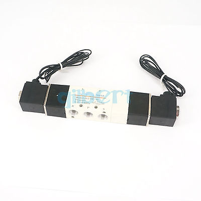 Pneumatic Solenoid Valve 3 position 5 way BSPT1/8 Central Exhaust 4V130E-06 5 way pilot solenoid valve sy3220 4g 02