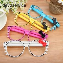 88701e4971 devoservice Fashion Frame Cute kawaii Ballpoint Pens primary students Gift  Glasses