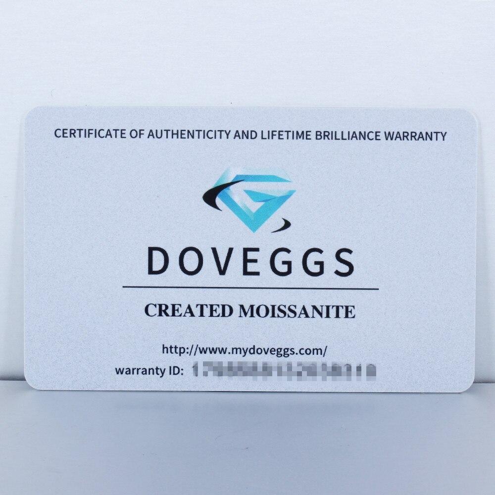 Image 5 - DovEggs スターリング Solid 925 シルバーセンター 1.9CTW 4 ミリメートルモアッサナイトスタッドイヤリングは女性のためのバック花型イヤリング   -