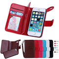 BRG Marcas de Casos para o iphone SE Magnético 2 em 1 Carteira De Couro + 9 Portadores de cartão + Caixa Slot + Photo Frame Case para iPhone 5SE cobrir