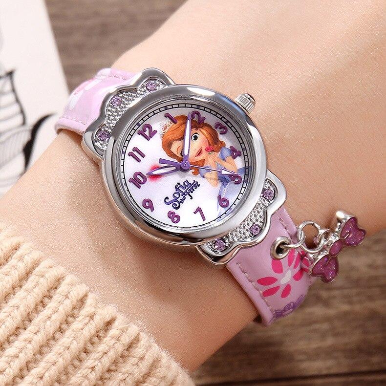 Luxury Brand 100% Genuine Disney Brand Watches Frozen Sophia Minnie Watch Fashion Luxury Watch Men Girl Wrist Watch Sinowatch Children's Watches
