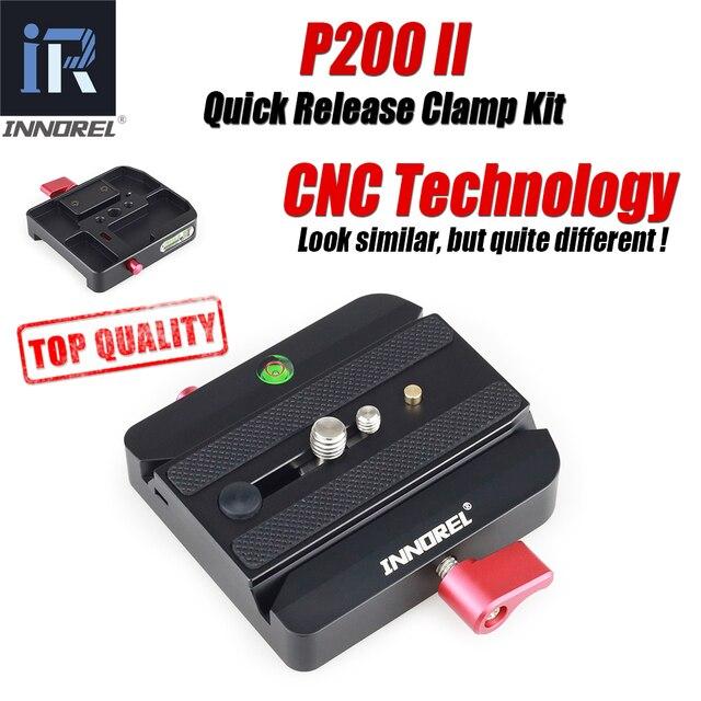 INNOREL משודרג כל CNC תהליך P200 השני מהיר שחרור מהדק ערכת QR צלחת מתאם עבור Manfrotto 501 500AH 701HDV 503HDV q5 וכו