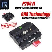 INNOREL amélioré tous les processus de CNC P200 II Kit de pince à dégagement rapide adaptateur de plaque QR pour Manfrotto 501 500AH 701HDV 503HDV Q5 etc.