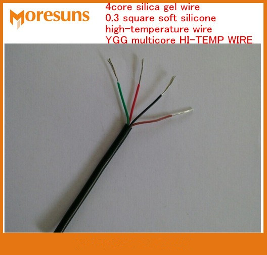 Fast Free Ship 10m 4 Core Silica Gel Wire 0.3 Square Soft Silicone Cable Core High-temperature Wire YGG Multicore HI-TEMP WIRE