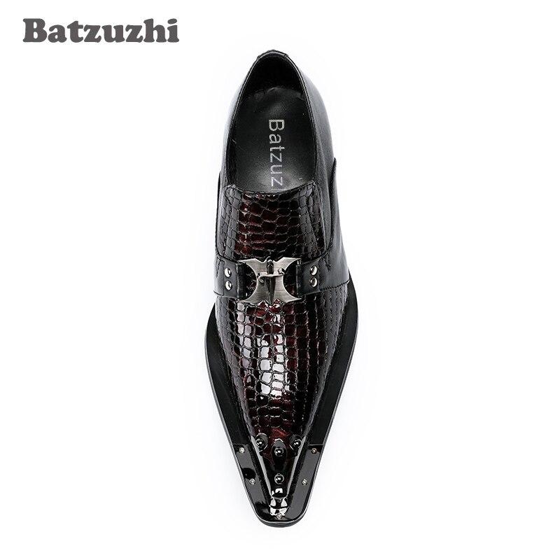 Dedo model 1 2 Pé Couro Vestido Sapatos Para Zapatos Pontiagudo A New Italiano E Oxford Pista De Do Metal Marca Model Hombre Homens Sapatas Us12 Dos Festa xqnwpFSz4