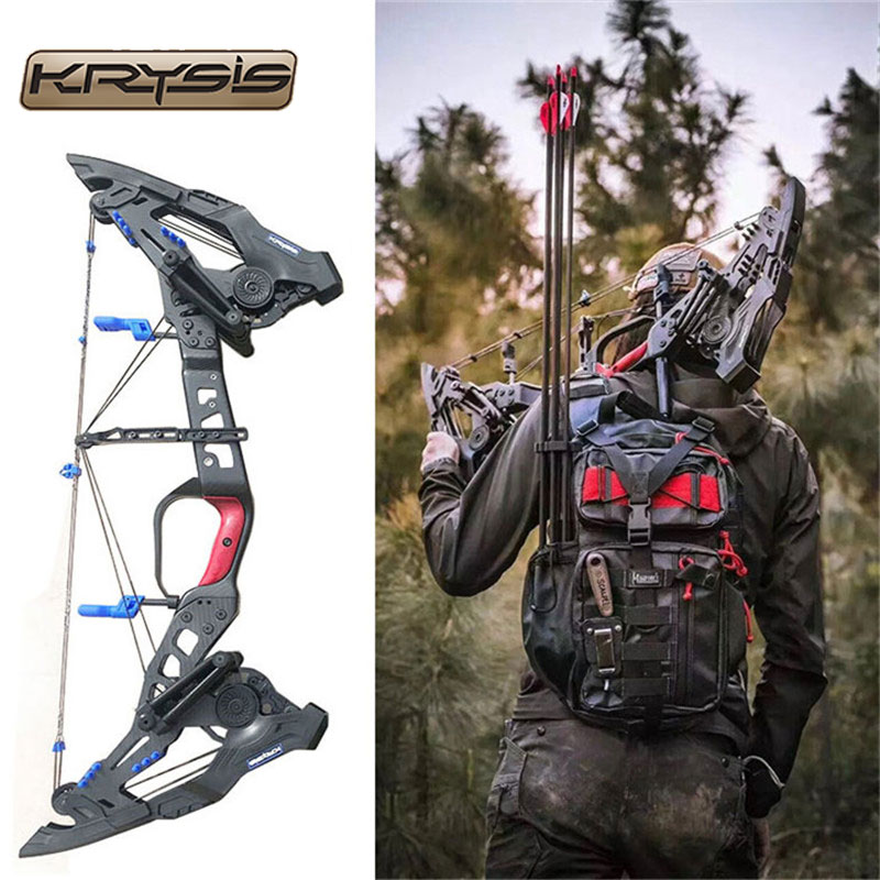 "32"" KRESIS Archery 21.5-80lbs Compound Bow Precision Steel Ball Bow Right Hand Outdoor Shooting D"