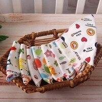 Cute Double Print Bibs 100 Natural Cotton Cartoon Triangle Baby Bib For Burp Cloth Infant Scarf