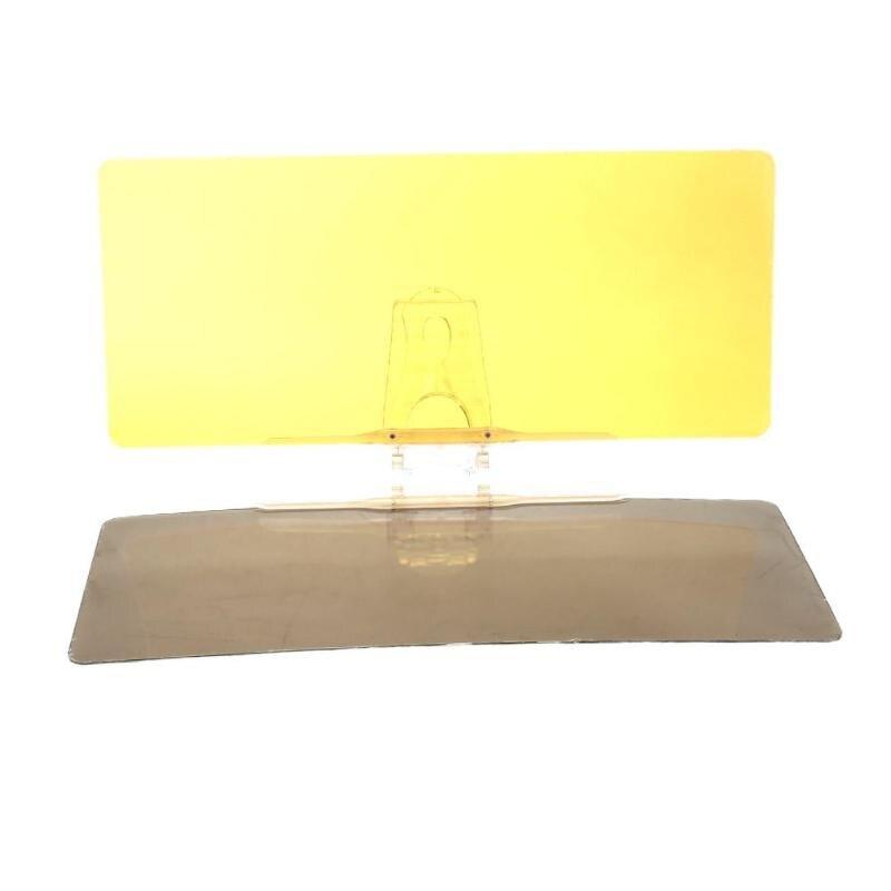 Auto Sonnenblende Anti-Sonnenlicht Dazzling Goggle 2 in 1 Tag Nacht Vision Rückspiegel UV Falten Flip Unten klar Pare Soleil Voiture