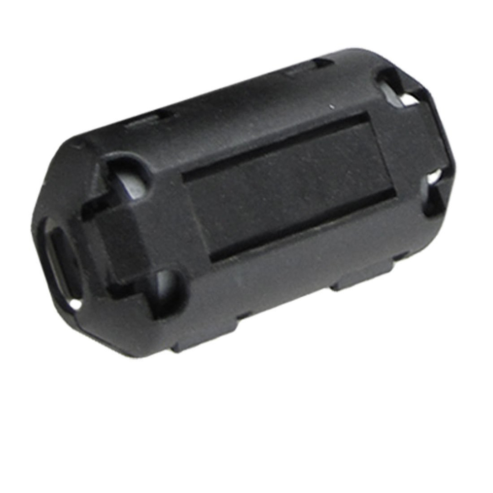 DSHA New Hot 10 Pcs Movable 7mm Inner Diameter Black Ferrite Core Ring Cable Clip