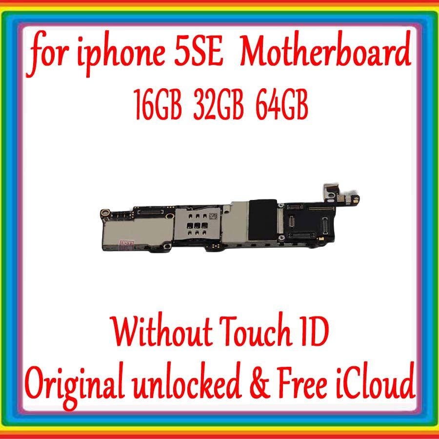 100% Factory unlocked for iphone 5SE SE Original Motherboard without Touch ID,No iCloud for iphone SE Mainboard with Full Chips100% Factory unlocked for iphone 5SE SE Original Motherboard without Touch ID,No iCloud for iphone SE Mainboard with Full Chips
