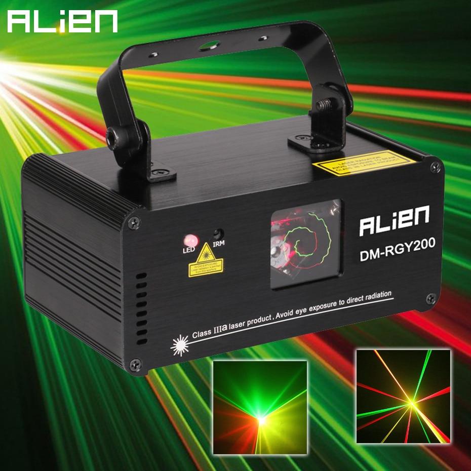 ÉTRANGER À Distance DMX512 200 mw RGY Laser Stage Lighting Scanner Effet De Danse DJ Disco Party Spectacle Son et Lumière De Noël Projecteur Lumières