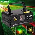 ALIEN DMX512 A Distanza 200 mW RGY Laser Fase di Illuminazione Scanner Effetto di Ballo Della Discoteca del DJ di Esposizione Del Partito Della Luce di Natale Luci Del Proiettore