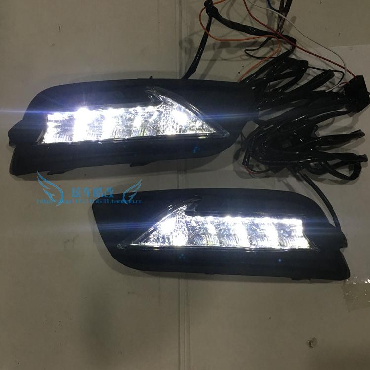 Osmrk led drl daytime running light for Nissan teana altima 2012 2013 new arrival led drl daytime running light driving light with turn light function for nissan teana altima 2013 2014 2015