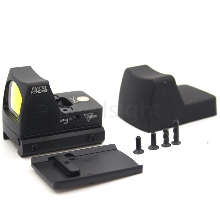 Stile RMR Glock Red Dot Portata Vista Collimatore Reflex Sight Scope fit 20mm Guida Del Tessitore Per Airsoft del Fucile di Caccia Scope