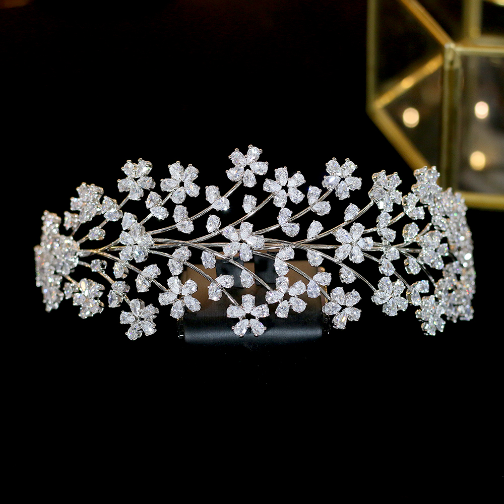 Fashion wedding ladies wedding hair band zircon bride hair accessories headdress bride crownFashion wedding ladies wedding hair band zircon bride hair accessories headdress bride crown