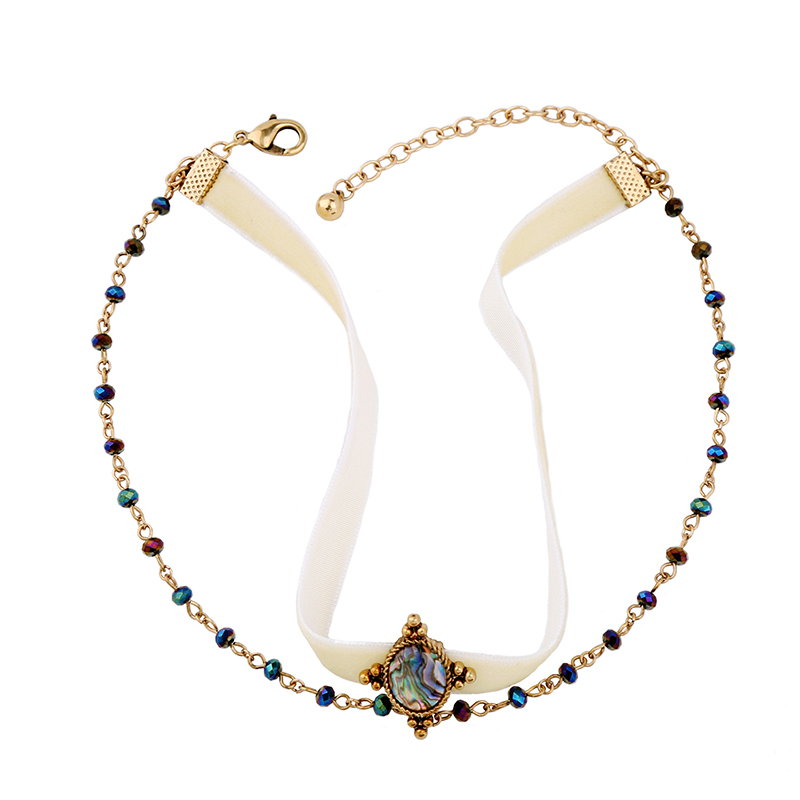 2017 New Design Multicolor Beads Velvet Choker Necklace Brand Jewelry Handmade Women Vintage Maxi Necklace