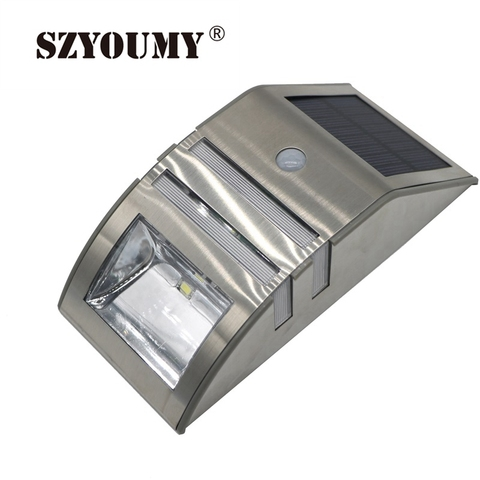 120lm szyoumy 2 a prova d agua levou pir lampada sensor de movimento solar luzes