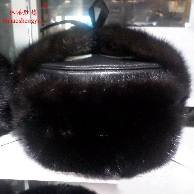Здесь продается  Linhaoshengyue Real  fur  mink fur  Protect Ear fur man  hat  warm in winter freeshpping 2016 NEW  Одежда и аксессуары