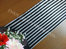 25pcs YHR 51 stripe satin single layer font b table b font runner for any events