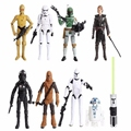8pcs/lot Star Wars  toys  R2 Jedi Chewbacca Etc Clone Star Wars 7 PVC Action Figure collection Anime toys for kids gifts