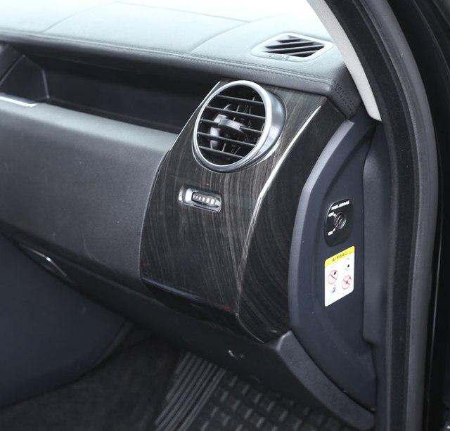 Moulage intérieur de luxe pour Land Rover Discovery 4 LR4 ABS | Coque de protection et de ventilation latérale, Grain de bois foncé, 2012 +