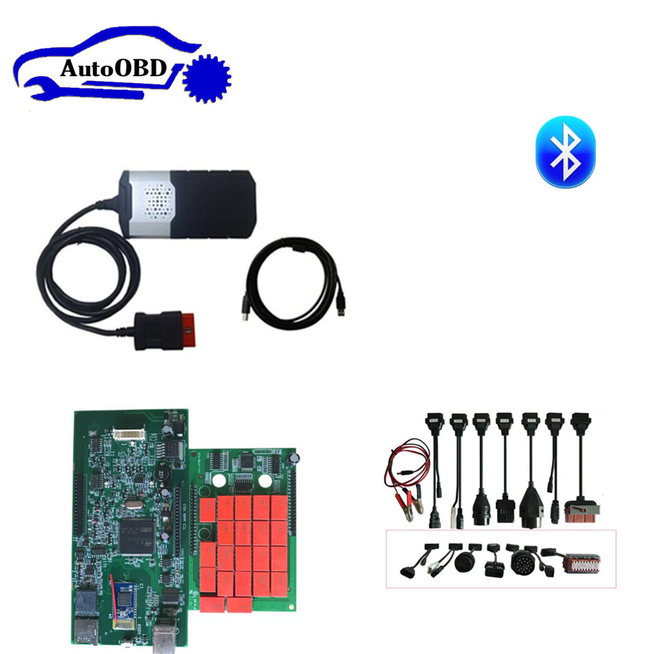 2015R3 with keygen/2016R0 free active CD for delphis vd ds150e cdp for autocoms cdp pro with bluetooth and 8pcs full set cable цена
