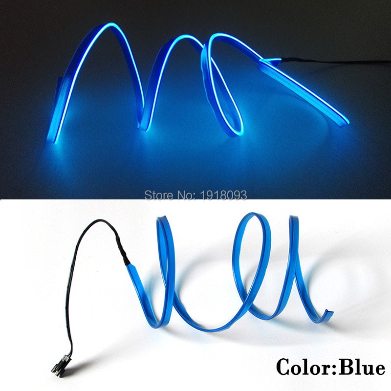 LED Strip EL Wire Tube Rope Flexibel Neon Light 2.3mm-kjol 1-25 Meter - LED-belysning - Foto 6