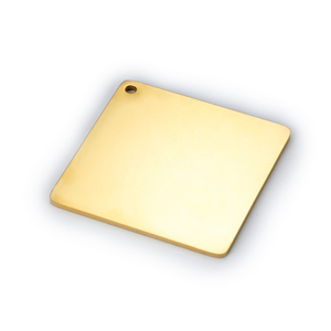Image 5 - MYLONGINGCHARM  Free Engraving 30pcs/lot Custom your design Engravable Square Charm Rectangle Charms Key chain Tags Blanks