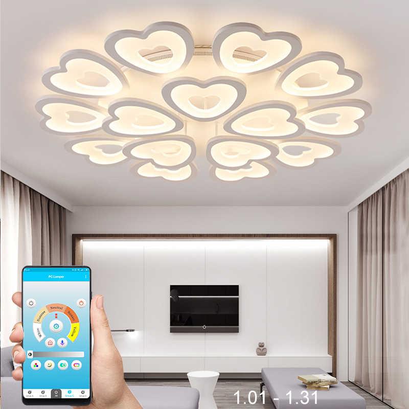 Современные лаконичные светодиоды Потолочная люстра для гостиной/столовой акриловый для спальни Железный блеск тела домашнего крепления для светильника-люстры