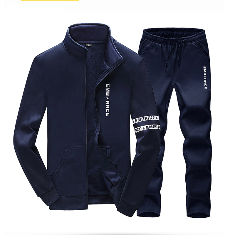 Spring season new youth running set outdoor picnic campus sportswear student cardigan zipper jacket sports suit color picnic set