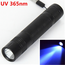 Led UV flashlight 365nm Purple Ultra Violet Flash light torch 18650 battery Torch Lamp for Money Cash Checker Detection 2017
