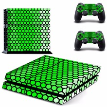 New Honeycomb latti Decal PS4 Skin Sticker For Sony Playstation 4 PS4 Console +2Pcs Controller protective skins