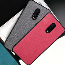Luxury Denim Leather Canvas Case For Oneplus 6 6T One Plus 6