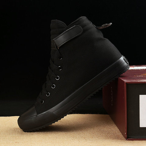 2019 Winter Shoes Men Winter Boots High top Sneakers Warm Fur Shoes Canvas Casual Men Ankle Boots Black White Footwear KA1628 Lahore