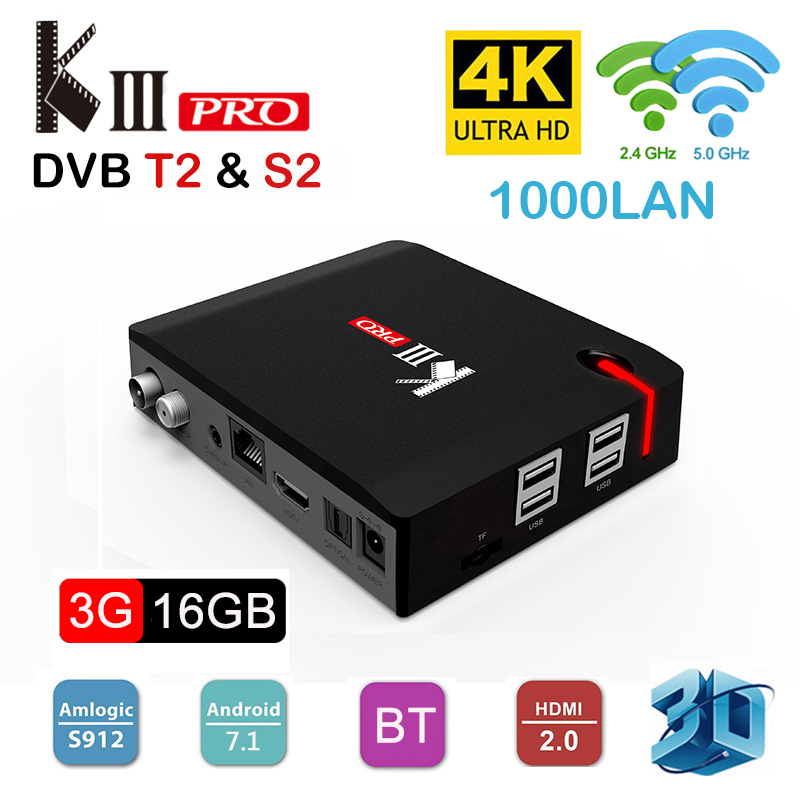 Original Smart TV Box Android 7 1 4K DVB T2 DVB S2 DVB C Amlogic S912