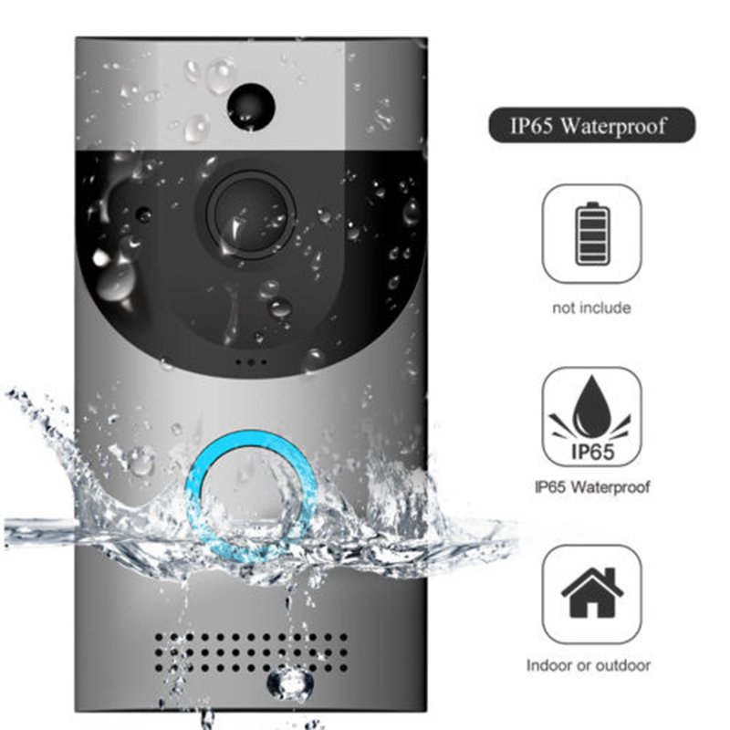 Candid 2019 Us Fr Stock Wireless Wifi Door Bell Smart Video Phone Door Visual Ring Intercom Secure Camera Home Security Camera Cheapest Price From Our Site Door Intercom