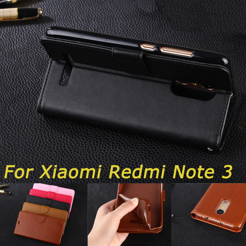 Para xiaomi redmi note 3 case moda flip pu leather stand case para xiaomi redmi note 3 pro estilo livro capa do telefone