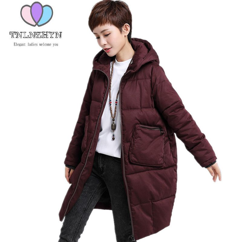 Women Winter Jacket Coat 2019 Plus size Thicken Warm Cotton Clothing High-end Medium-length Casual Hooded Women Outerwear Parkas