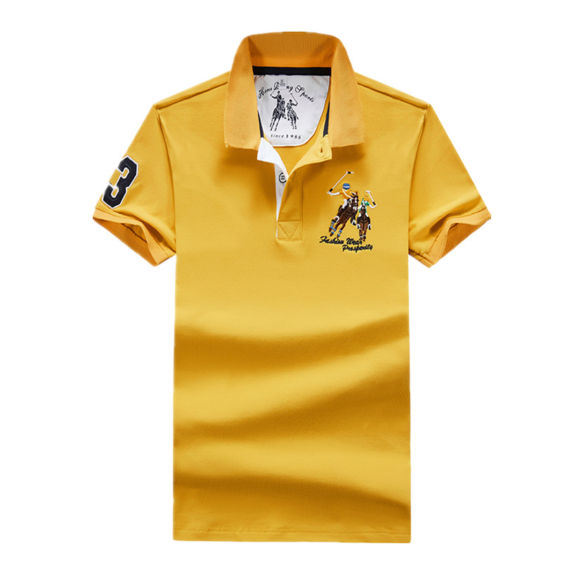 Hot Sale 2019 Tops&Tees Men's   Polo   shirts Business men brands   Polo   Shirts 3D embroidery   polo   shirt men Fashion   polo   homme