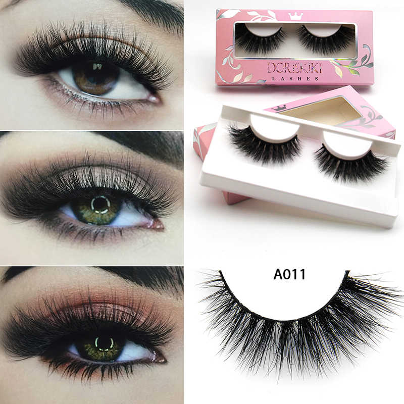 bd48b989a16 A011 3D Mink eyelashes Medium Dramatic Winged Lashes Flutter Fake Lashes  Makeup Best Choice Lashes For